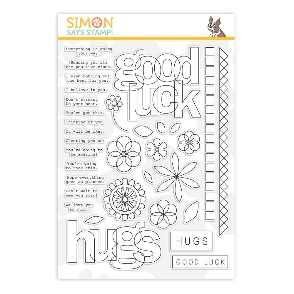 Simon Says Clear Stamps LUCK AND HUGS sss202084 Sunny Days Ahead zoom image