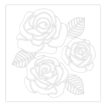 Simon Says Stamp Stencil ROSE TRIO ssst121480 Sunny Days Ahead