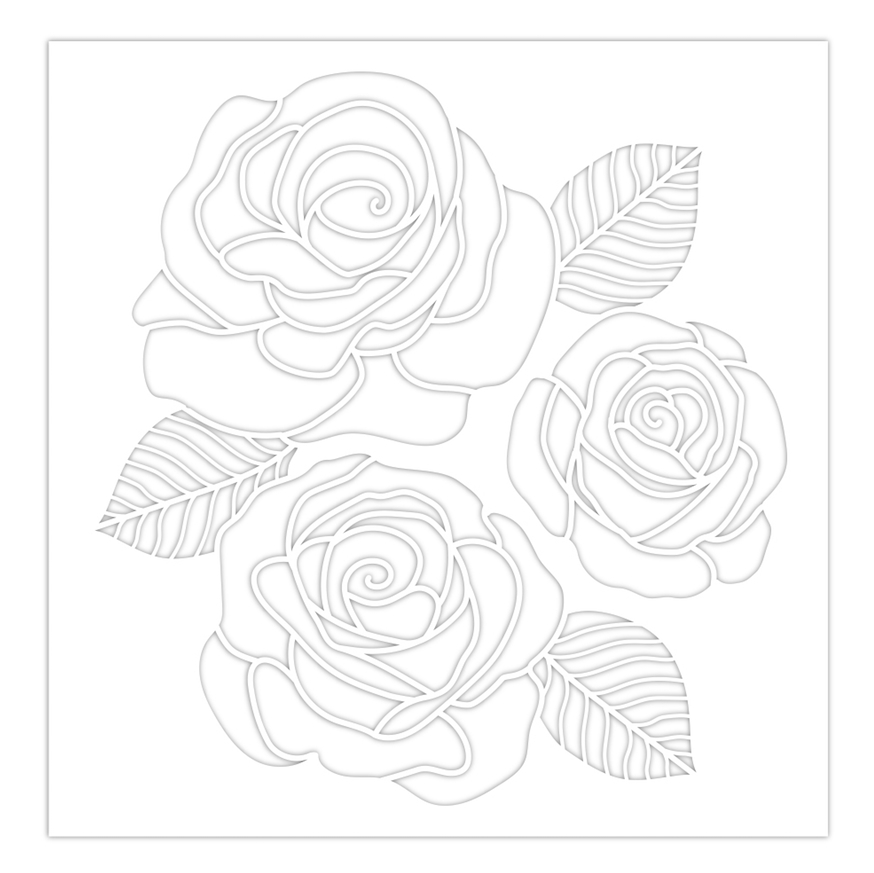 Simon Says Stamp Stencil ROSE TRIO ssst121480 Sunny Days Ahead zoom image