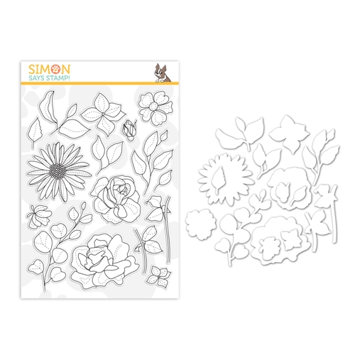 Simon Says Stamps And Dies SPRING FLOWERS 4 set383sf Sunny Days Ahead Preview Image