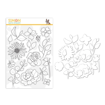 Simon Says Stamps And Dies SPRING FLOWERS 4 set383sf Sunny Days Ahead