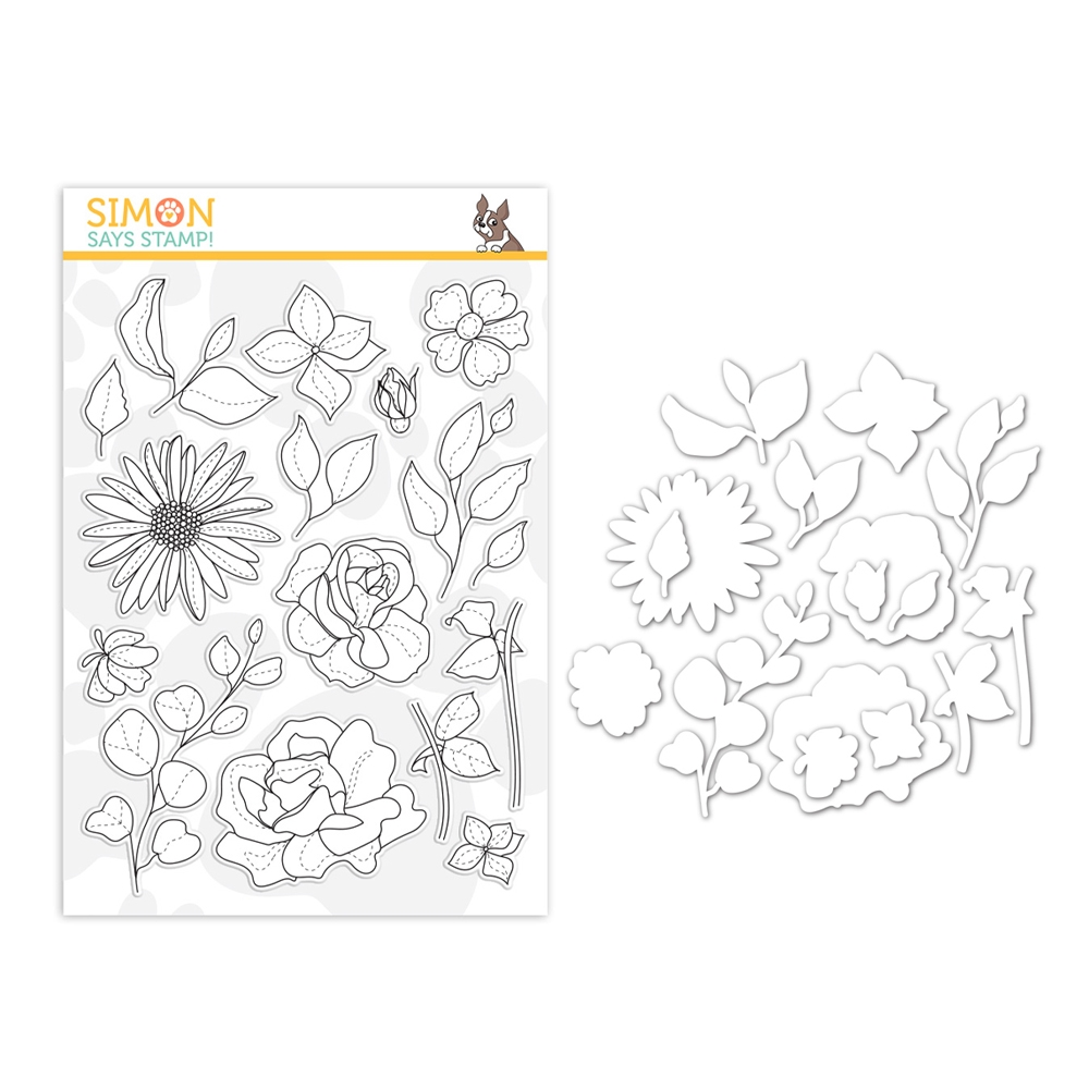 Simon Says Stamps And Dies SPRING FLOWERS 4 set383sf Sunny Days Ahead zoom image