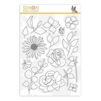 RESERVE Simon Says Clear Stamps SPRING FLOWERS 4 sss202116 Sunny Days Ahead