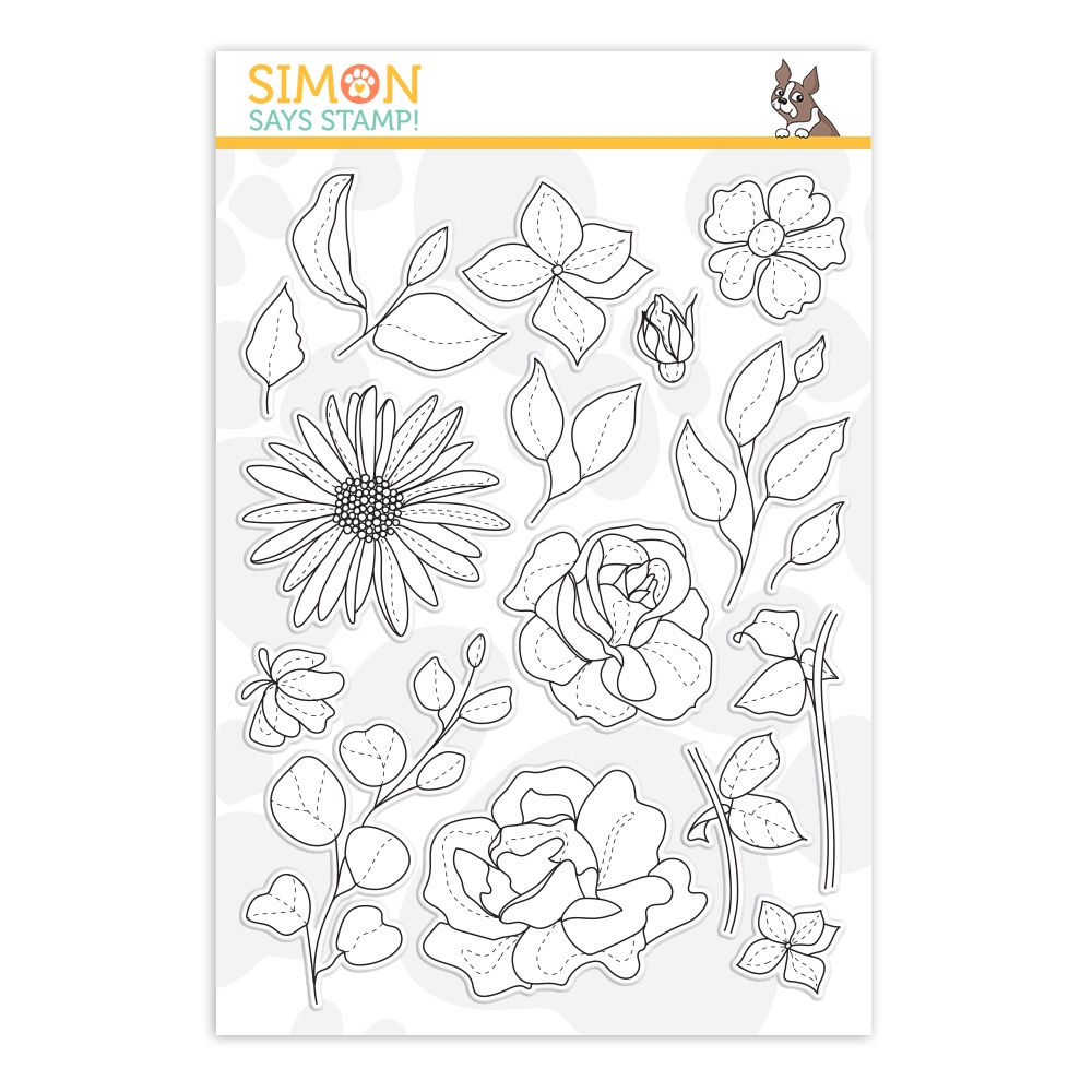 Simon Says Clear Stamps SPRING FLOWERS 4 sss202116 Sunny Days Ahead zoom image