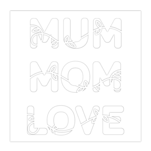 Simon Says Stamp Stencil MUM MOM LOVE ssst121475 Sunny Days Ahead * Preview Image