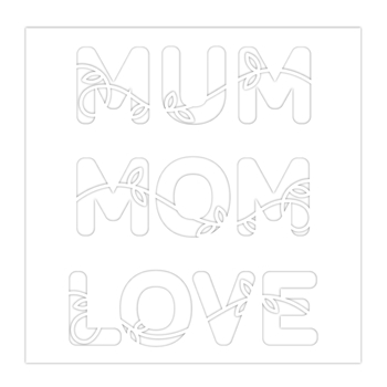 Simon Says Stamp Stencil MUM MOM LOVE ssst121475 Sunny Days Ahead *