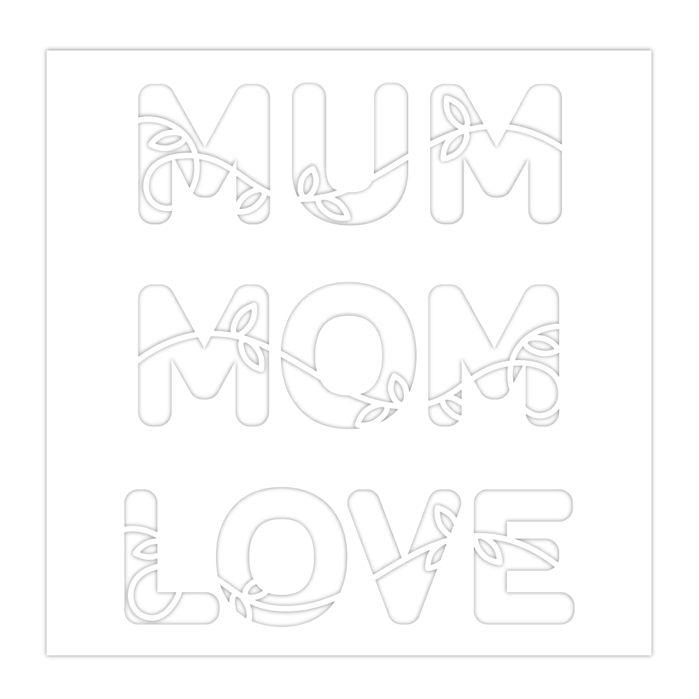 Simon Says Stamp Stencil MUM MOM LOVE ssst121475 Sunny Days Ahead * zoom image