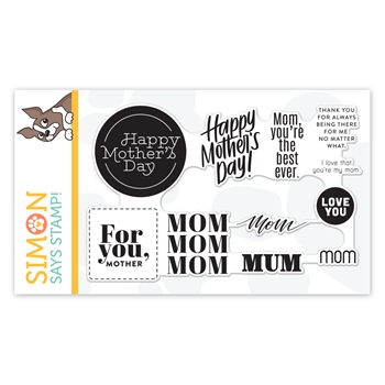Simon Says Clear Stamps MOM WORD MIX 2 sss102114 Sunny Days Ahead