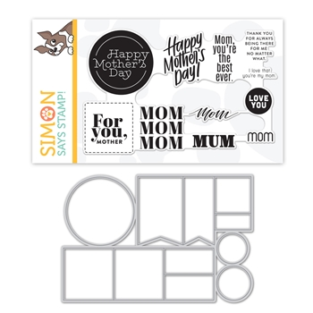Simon Says Stamps And Dies MOM WORD MIX 2 set385mwm Sunny Days Ahead