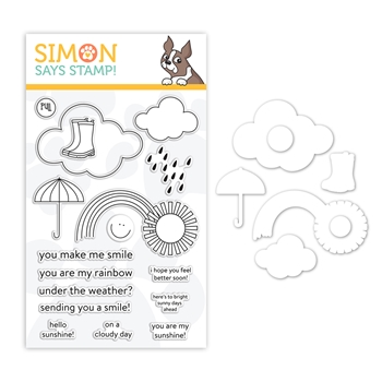 RESERVE Simon Says Stamps And Dies UNDER THE WEATHER set384uw Sunny Days Ahead