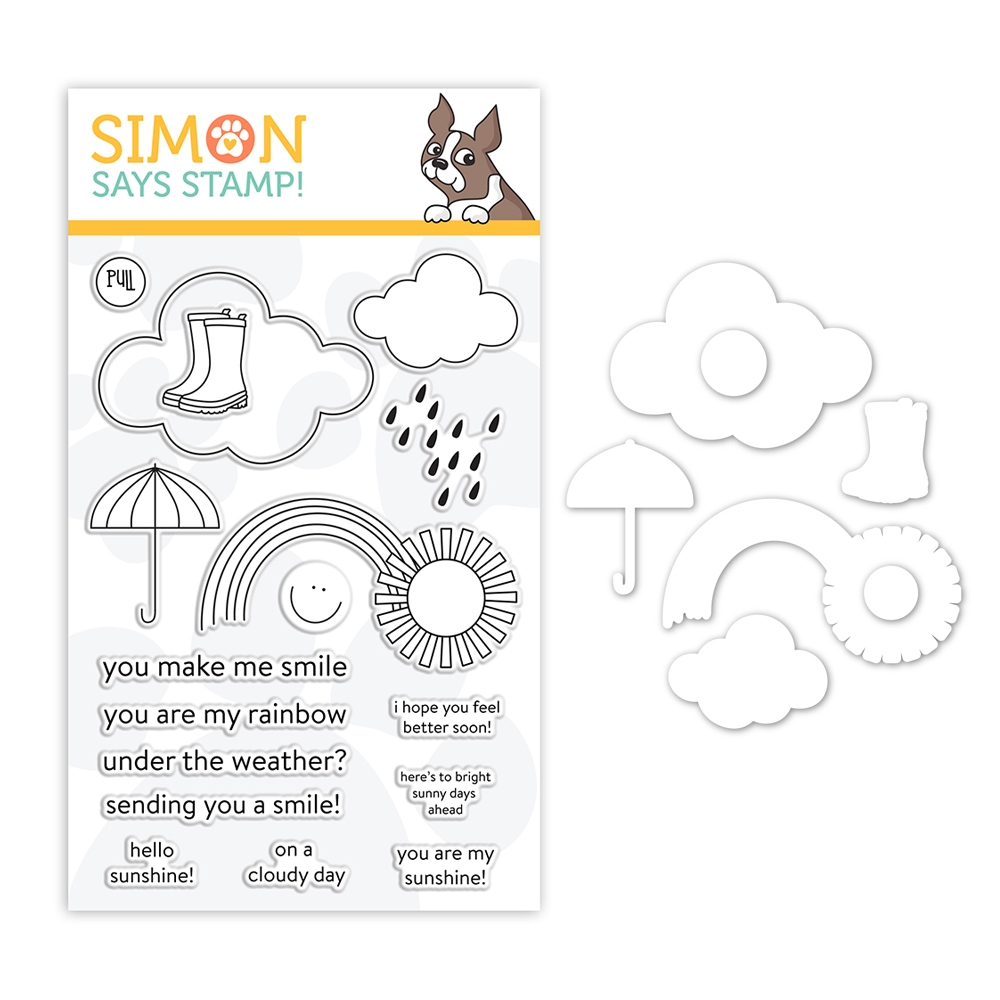 Simon Says Stamps And Dies UNDER THE WEATHER set384uw Sunny Days Ahead zoom image
