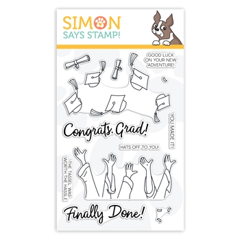 Simon Says Clear Stamps HATS OFF GRAD sss102120 Sunny Days Ahead