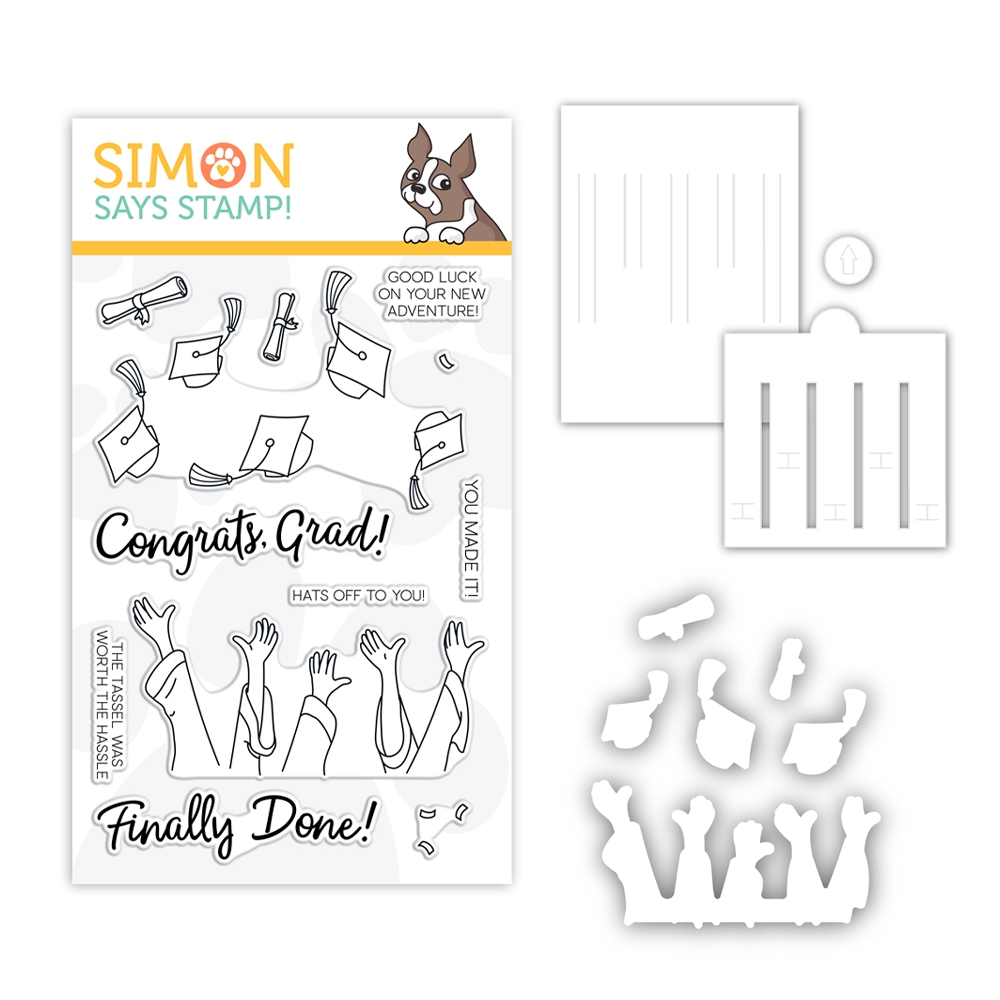 Simon Says Stamps And Dies HATS OFF GRAD set386hog Sunny Days Ahead zoom image