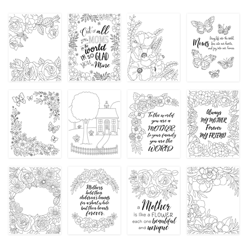 Simon Says Stamp Suzy's MOTHERS Watercolor Prints szwc20md Sunny Days Ahead Preview Image