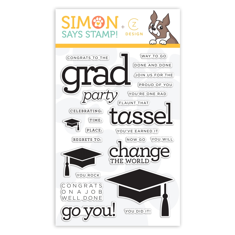 CZ Design Clear Stamp GRAD PARTY cz53 Sunny Days Ahead zoom image