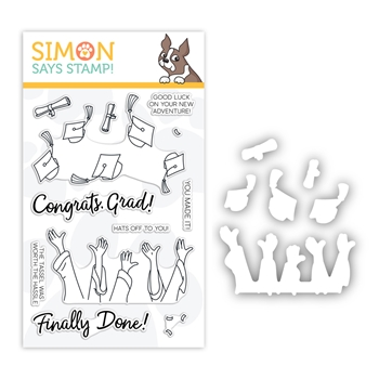 RESERVE Simon Says Stamps and Dies HATS OFF GRAD set380hog Sunny Days Ahead