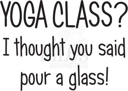 Riley And Company Funny Bones YOGA CLASS Cling Rubber Stamp RWD-795 Preview Image