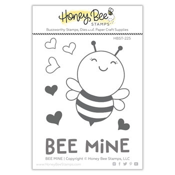 Honey Bee BEE MINE Clear Stamp Set hbst225*