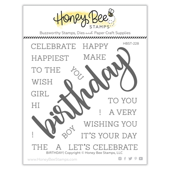 Honey Bee BIRTHDAY Clear Stamp Set hbst228