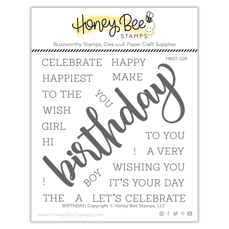Honey Bee BIRTHDAY Clear Stamp Set hbst228 zoom image