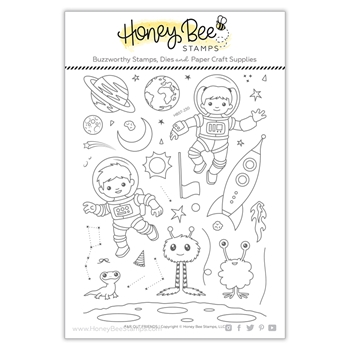 Honey Bee FAR OUT FRIENDS Clear Stamp Set hbst230