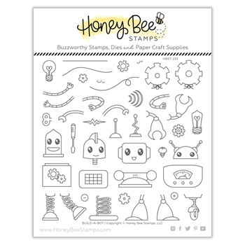 Honey Bee BUILD A BOT Clear Stamp Set hbst233