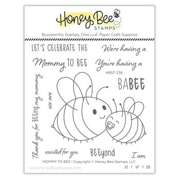 Honey Bee MOMMY TO BEE Clear Stamp Set hbst236