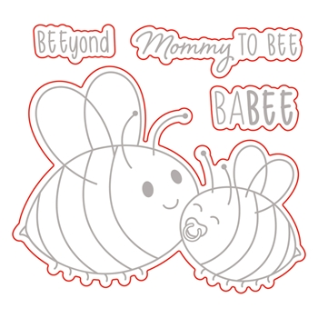 Honey Bee MOMMY TO BEE Dies hbds236