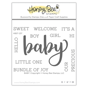 Honey Bee BABY Clear Stamp Set hbst237