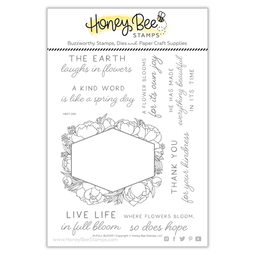 Honey Bee IN FULL BLOOM Clear Stamp Set hbst240 Preview Image