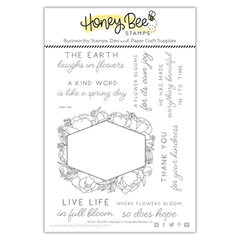 Honey Bee IN FULL BLOOM Clear Stamp Set hbst240