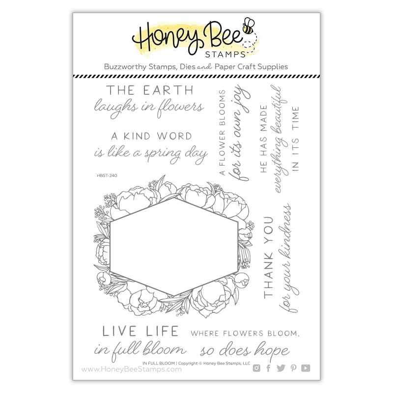 Honey Bee IN FULL BLOOM Clear Stamp Set hbst240 zoom image