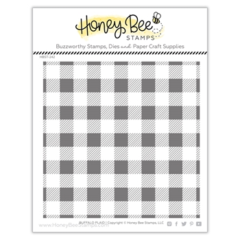Honey Bee BUFFALO PLAID Clear Stamp Set hbst242