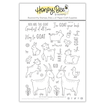 Honey Bee WAY TO GOAT Clear Stamp Set hbst243
