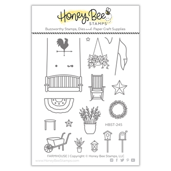 Honey Bee FARMHOUSE ADD ON Clear Stamp Set hbst245