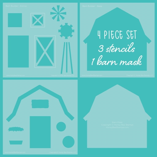 Honey Bee BARN BUILDER Stencils And Masks Set of 4 hbsl048 Preview Image