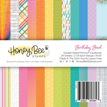 Honey Bee BIRTHDAY BASH 6 x 6 Paper Pad hbpa013