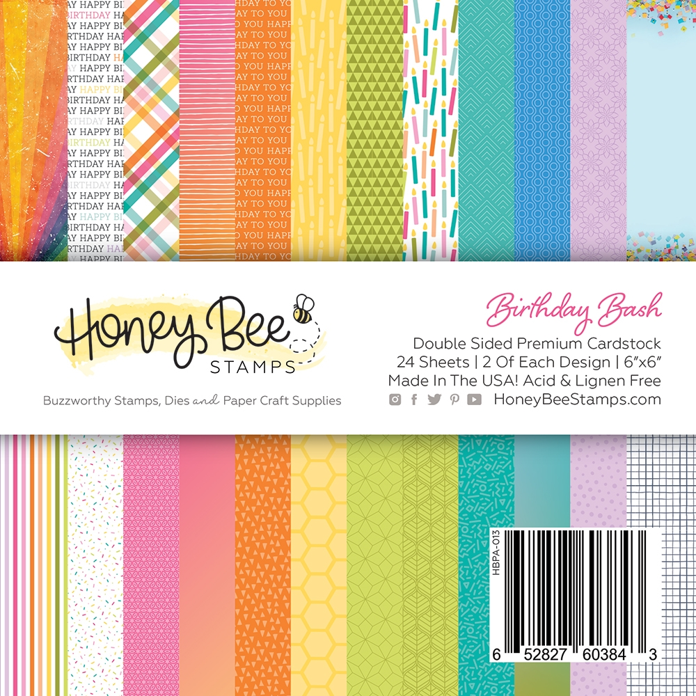 Honey Bee BIRTHDAY BASH 6 x 6 Paper Pad hbpa013 zoom image