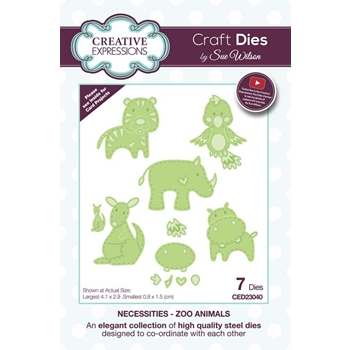 Creative Expressions ZOO ANIMALS Sue Wilson Necessities Collection Dies ced23040
