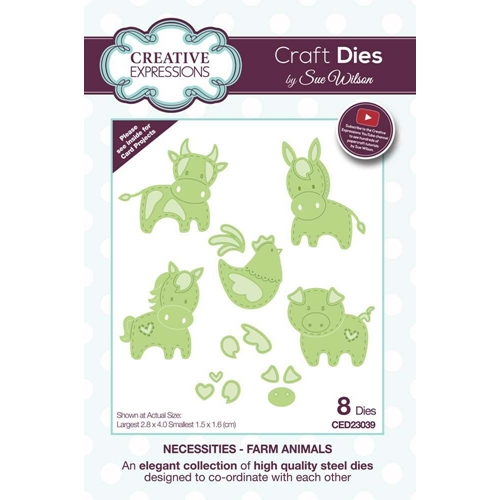 Creative Expressions FARM ANIMALS Sue Wilson Necessities Collection Dies ced23039 Preview Image