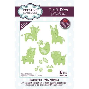 Creative Expressions FARM ANIMALS Sue Wilson Necessities Collection Dies ced23039