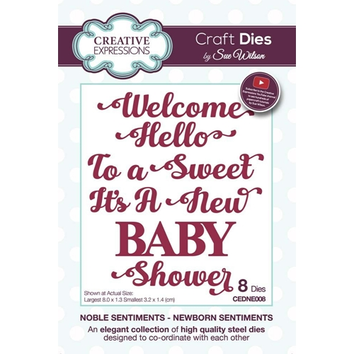 Creative Expressions NEWBORN SENTIMENTS Sue Wilson Noble Collection Dies cedne008 Preview Image