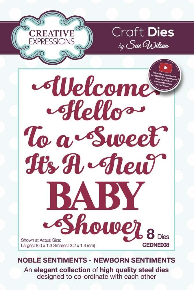 Creative Expressions NEWBORN SENTIMENTS Sue Wilson Noble Collection Dies cedne008 zoom image