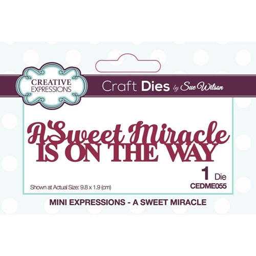 Creative Expressions A SWEET MIRACLE Sue Wilson Mini Expressions Die cedme055 Preview Image