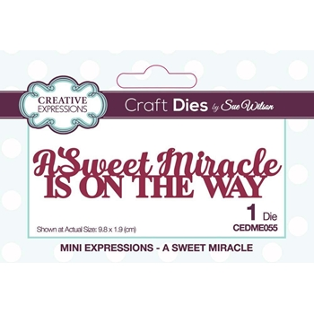 Creative Expressions A SWEET MIRACLE Sue Wilson Mini Expressions Die cedme055