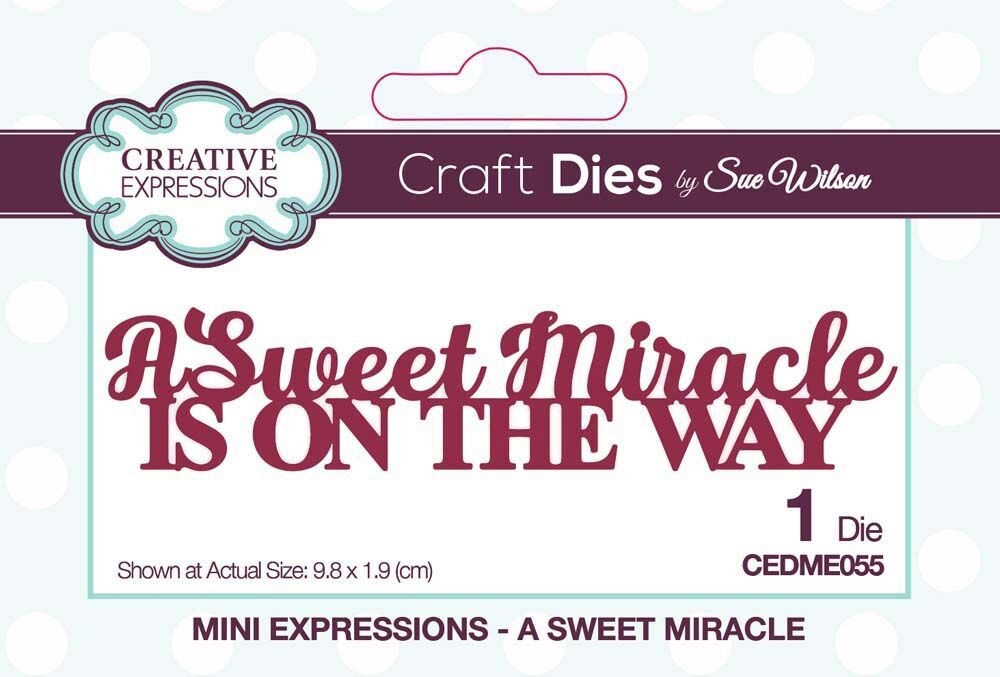 Creative Expressions A SWEET MIRACLE Sue Wilson Mini Expressions Die cedme055 zoom image