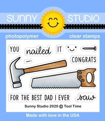Sunny Studio TOOL TIME Clear Stamps SSCL-261 Preview Image