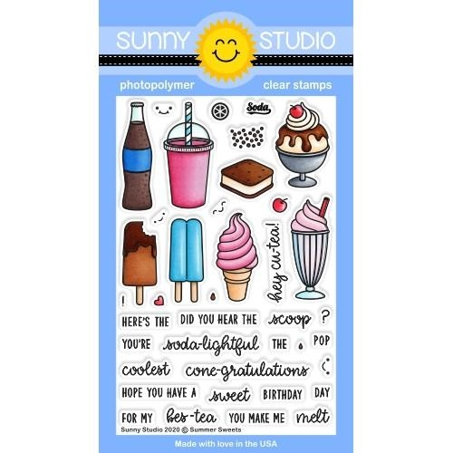 Sunny Studio SUMMER SWEETS Clear Stamps SSCL-269 Preview Image