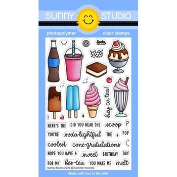 Sunny Studio SUMMER SWEETS Clear Stamps SSCL-269