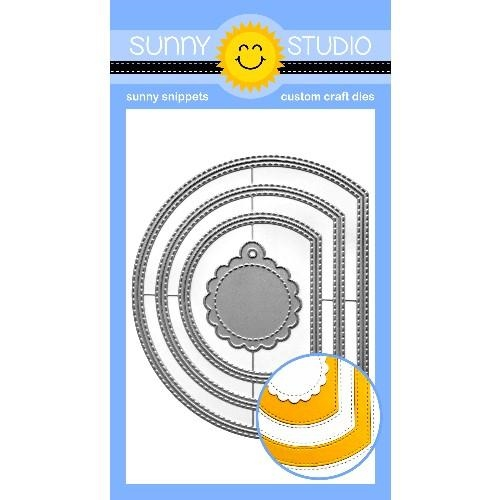 Sunny Studio STITCHED SEMI CIRCLE Dies SSDIE-199 Preview Image